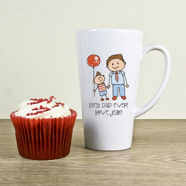 I Love My Dad Personalised Kid's Artwork Latte Mug